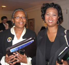 Mrs. Johnson and Mae Jemison, astronaut